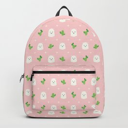 Alpaca and Cactus Pattern 2 Backpack