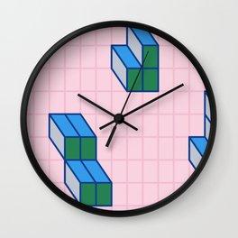 Grid & Tetris Wall Clock
