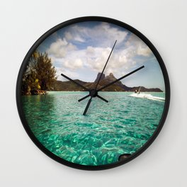 Bora Bora Tahiti, Take Me on a Jet Ski Wall Clock