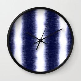 Indigo Pillars Wall Clock