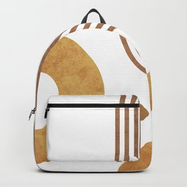 Transitions - White 03 - Minimal Geometric Abstract Backpack