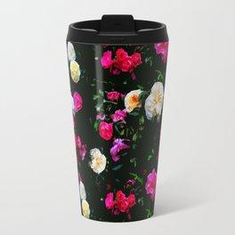 Dark Floral Rose Garden Travel Mug
