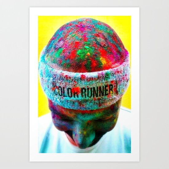 COLOR RUNNING YOUR LIFE Art Print