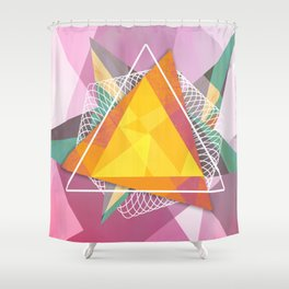 Tangled triangles Shower Curtain