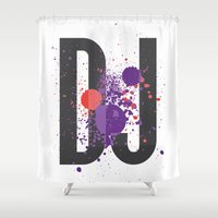 coldplay Shower Curtains featuring Art DJ by Sitchko Igor
