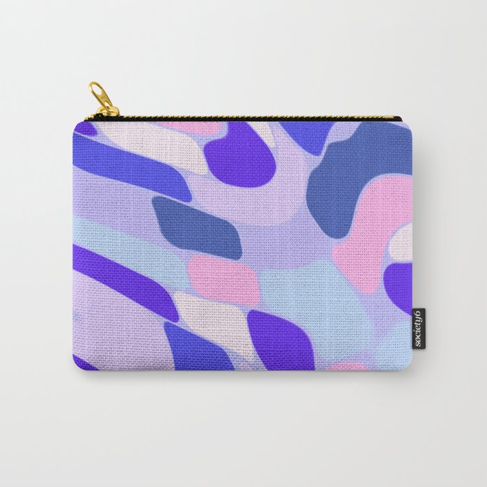 Blue and Pink Abstract Carry-All Pouch