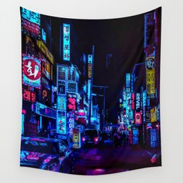 Blue and Purple nights Wall Tapestry