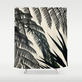 Palms at Dusk Shower Curtain