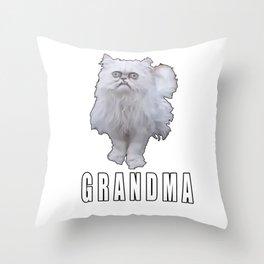 This Stray Cat Looks Like Grandma - Meme Throw Pillow