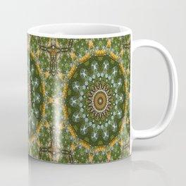 Yellow Tree Flower Kaleidoscope Art 4 Coffee Mug