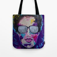 sunglasses Tote Bags featuring Sunglasses by Wendistry