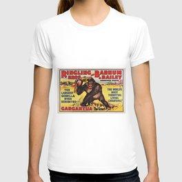 1938 Ringling Brothers and Barnum & Bailey Big Top 'GARGANTUA the Great' Circus Poster T-shirt