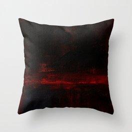 Mark Rothko Interpretation Red Blue Acrylics On Canvas Throw Pillow