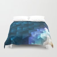 dna Duvet Covers featuring DNA Cube by Tony Vazquez