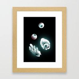 Eyeball Juggler Framed Art Print