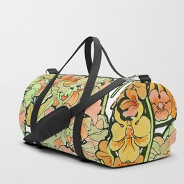 Romance in Paris, Art Nouveau Floral Nostalgia Duffle Bag