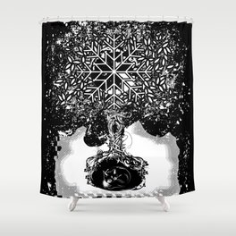 A tree in the dead of winter Shower Curtain