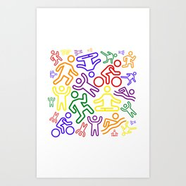 Rainbow people Art Print