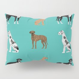 Great Danes mixed coats dog breed must have pure breed lovers Pillow Sham