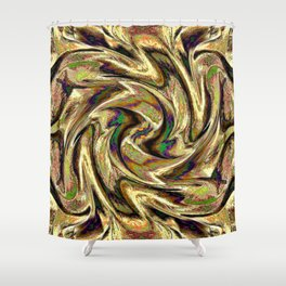 Gold Brown  Rotation Motaion Background Abstact Shower Curtain