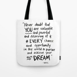 You are valuable Tote Bag