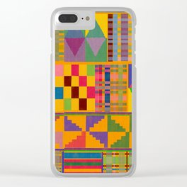 Kente Inspired Clear iPhone Case