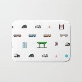 Boston Pixel Pattern Bath Mat