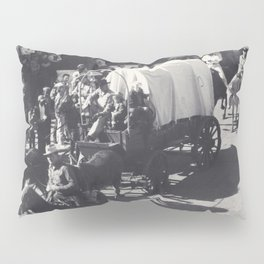 Vintage Houston Rodeo Parade Cowboys and Wagons Pillow Sham