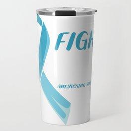 Ankylosing Spondylitis Ribbon Disease Warrior Gift Travel Mug