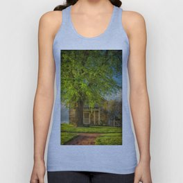 The Stone Cottage On A Spring Evening Unisex Tank Top