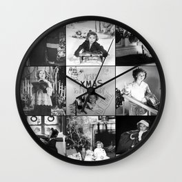Shirley Temple Christmas Collage Wall Clock