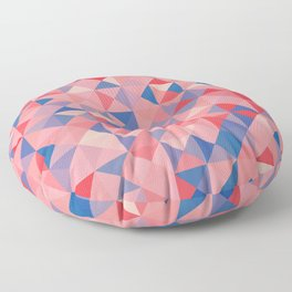 colorful Triangles 1 Floor Pillow