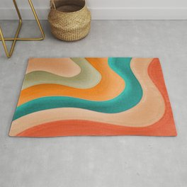 Abstract Pastel Pattern Rug