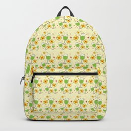 Frangipani flowers and cocktails pattern Backpack