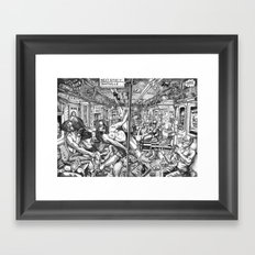 Next Stop Shitville Framed Art Print