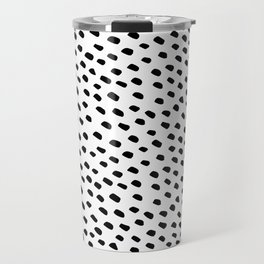 Brush Dot Pattern White Travel Mug