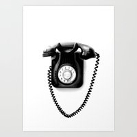 telephone Art Prints featuring Telephone by Plasmodi
