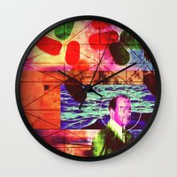 whatever Wall Clocks featuring Whatever by Alec Goss