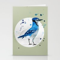 jay fleck Stationery Cards featuring Blue Jay by Condor