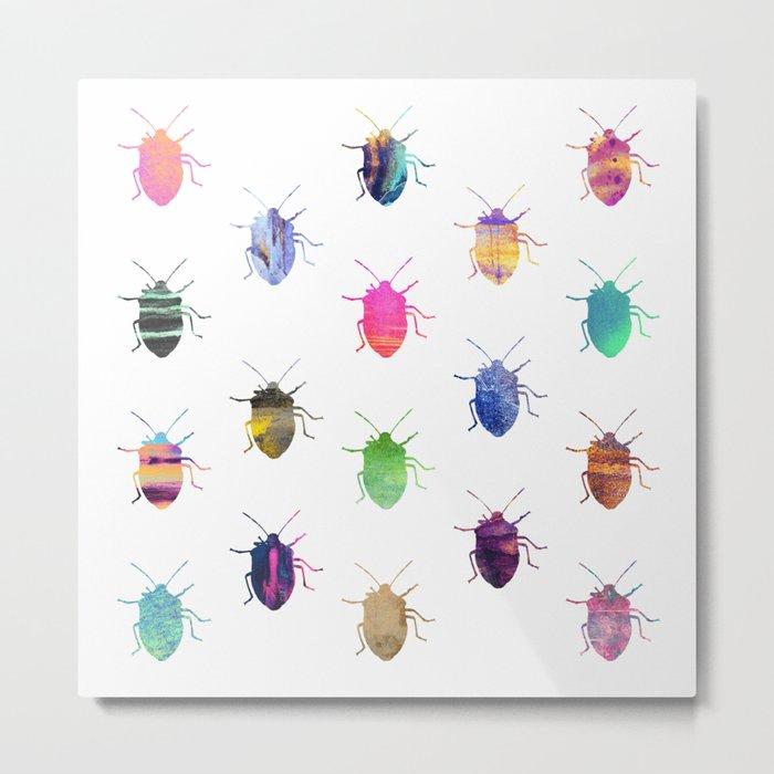 Pretty Bugs Metal Print