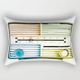 Vintage Radio Pop Art Rectangular Pillow
