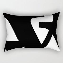 Hidden Letters. Baskerville V Rectangular Pillow