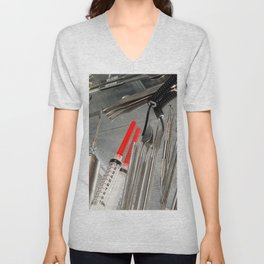 Medical Utensils Unisex V-Neck