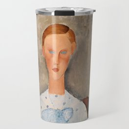 "Amedeo Modigliani ""Girl with a Polka-Dot Blouse (Jeune fille au corsage à pois)"" Travel Mug"