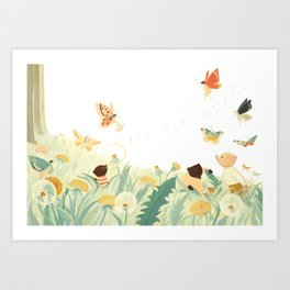 The Butterfly Field by Emily Winfield Martin Art Print