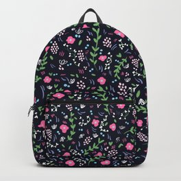 Blossoming flowers - dark blue Backpack