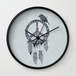 A dreamcatcher for peace Wall Clock