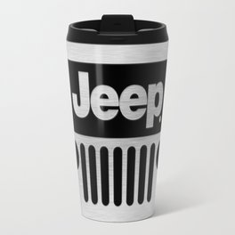Jeep Steel Chrome Travel Mug