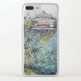 The Bamboo (Watercolor Painting) Clear iPhone Case
