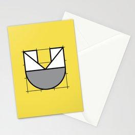 U // Perfectionist Alphabet (Pantone Illuminating + Ultimate Gray) Stationery Cards